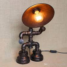 vintage water table lamps water pipe table lamp edison light bulb
