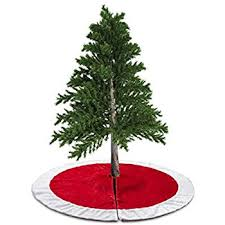 aerwo 48inch white snowflakes tree skirt