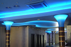 make a stretch ceiling with inside led strip lighting