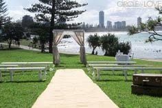 wedding arches gold coast laws park wedding burleigh headlands wedding arch on