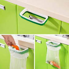 kitchen cabinet inserts promotion shop for promotional kitchen new fashion hanging kitchen cabinet door trash rack style storage garbage bags dropshipping wholesale