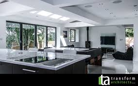 extensions kitchen ideas contemporary kitchen living dining space transform architects