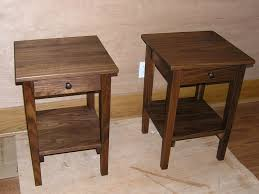 shaker style side table 1 drawer 1 door shaker side table in natural walnut branch hill