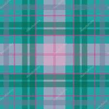 vector seamless scottish tartan pattern in blue turquoise green