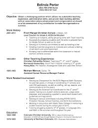 Teacher Responsibilities Resume Top Porter Job Description Resume Xpertresumes Com