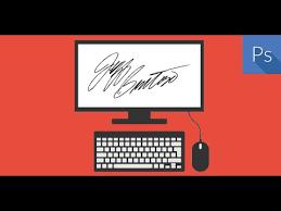 membuat tanda tangan digital gratis cara membuat tanda tangan dengan photoshop youtube