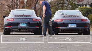 porsche 911 snow how different are rwd 911s from awd 911s the drive