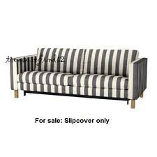Ikea Karlstad Sofa by Ikea Karlstad Slipcover 20118739 Black And White Stripes Ebay