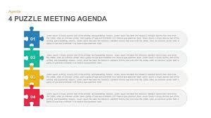 4 puzzle meeting agenda powerpoint and keynote template slidebazaar