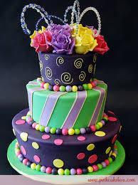 Flared Topsy Turvy Rose Cake Birthday Cakes