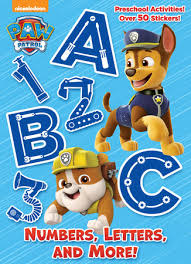 numbers letters paw patrol golden books