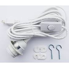 pendant light cord with switch cord set for ceiling pendant l shade 15 cable with on off