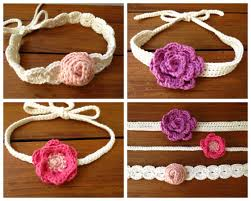 crochet flower headband crochet flower headband pattern crochet patterns by deborah