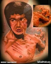 brurce lee portrait tattoo by gary parisi wci chic tattoo