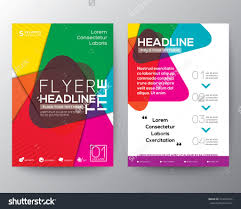 home design abstract colorful brochure flyer design layout vector