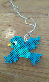 hama bead letter templates 567 best perler bead ideas images on pinterest fuse beads hama perler bead bird necklace by rewrittentime
