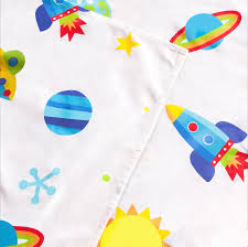 rocket space bedding twin sheet set outer space planets rockets