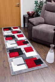 Modern Square Rug Tempo Square Rug Black Grey