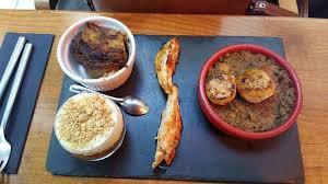 3 cuisine gourmande assiette gourmande assortiment de 3 plats photo de le petit