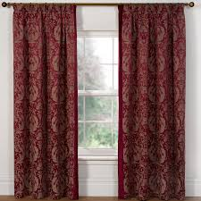 windsor red pencil pleat jacquard lined curtains pair julian