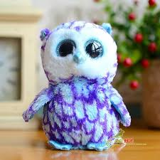 ty big eyes owl pumpkie beanie boos lovely plush toys 15cm5 9