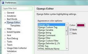 django editor plugin for eclipse