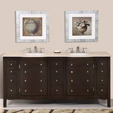 72 u201d perfecta pa 5126 bathroom vanity double sink cabinet dark