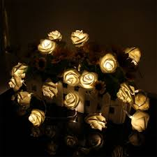 Flower String Lights by Shop 8 5 Ft 10 Light White Metal Shade Plug In Flowers String