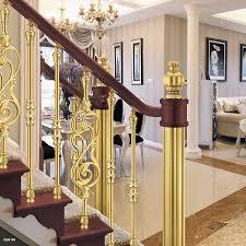 European Interior Design European Interior Design Luxury Aluminum Stair Railing Golden