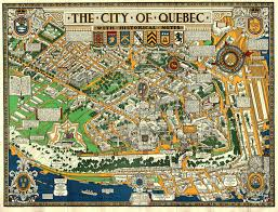 Map Of Quebec 20th Century Product Tags Idea Rare Maps