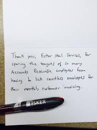 esker s jimmy fallon thank you notes