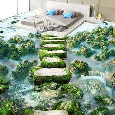 aliexpress com buy custom 3d floor wallpaper modern beach stone