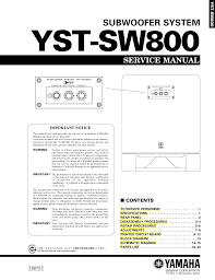 download free pdf for yamaha yst sw800 subwoofer manual
