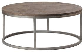 Coffee Table Contemporary by Gabby Colby Parquet Wood Round Coffee Table Contemporary