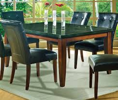 furniture fancy dining room decoration using black leather dining