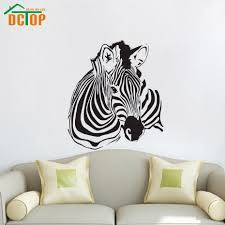 online get cheap wall stickers zebra aliexpress com alibaba group high quality zebra wall stickers living room removable vinyl self adhesive animal home decor art murals