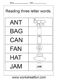 free kindergarten reading worksheets understanding the names of