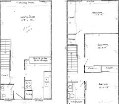 three bedroom townhouse floor plans brookside east garden cottage apartments in santa rosa sonoma county