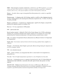appendix f hazmat transportation glossary of terms and acronyms