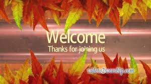 welcome background autumn and thanksgiving
