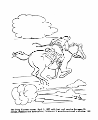 usa printables pony express history coloring pages