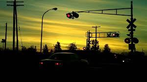 traffic light mt clemens railfan mt clemens michigan at dusk 5 locos cn northbound
