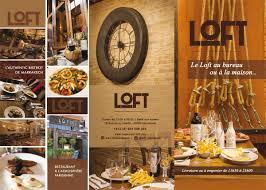 carte au bureau livraison emporter cuisine française à marrakech le loft