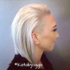 white hair shaved undercut long bob haircut my stuff