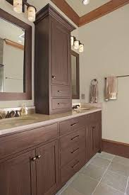 Double Vanity With Tower Double Vanity With Center Tower Double Sink Vanity Design