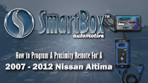 how to program a proximity key to a 2007 2012 nissan altima