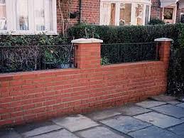 front garden brick wall designs uk best idea garden