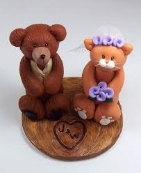bear and cat wedding cake topper mr bear and mrs kitty w u2026 flickr