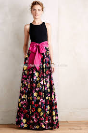 fancy maxi dresses women casual one dress in floral print fancy new design maxi