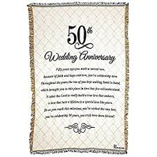 50th wedding anniversary 50th wedding anniversary poem 48 x 68 all cotton